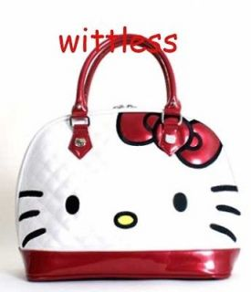 Loungefly New HELLO KITTY Purse White RED BOW SANRIO Embossed patent