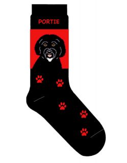 Portugese Water Dog Socks Lightweight Cotton Crew Stretch Egyptian
