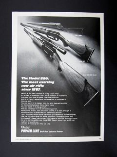 Daisy Power Line Model 880 Air Rifle Gun 1973 print Ad advertisement