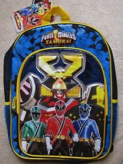 POWER RANGERS Samurai 16 Blue Backpack School Book Bag