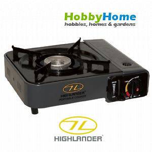 HIGHLANDER PORTABLE GAS COOKER CAMPING STOVE WITH CARRY CASE MILITARY