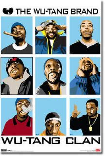 WU TANG CLAN ANIMATED POSTER   22 x 34 SHRINK WRAPPED   RAP HIP HOP