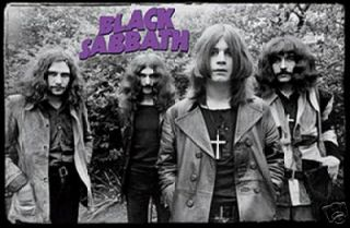 BLACK SABBATH POSTER   EARLY GROUP SHOT   OZZY OSBOURNE   PRINT IMAGE