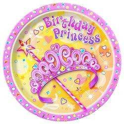 Pretty Princess Birthday Party Supplies Set for 16 ~ Invites, Plates