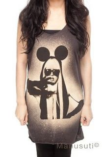GAGA MICKEY Pop Rock Sexy Artist WOMEN T SHIRT TANK TOP Dress Size S M