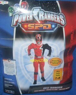 Power Rangers SPD Red Ranger Muscle Costume Size 7 8 New Medium w