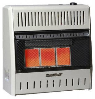 Plaque Infrared 15,000 BTU LP Gas Vent Free Wall Heater w Thermostat