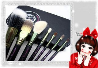 Pro Makeup Cosmetic 7pcs Hello Kitty Brush Set with Black Case