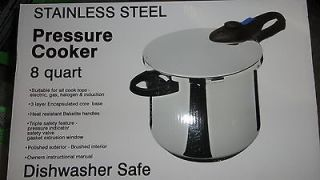 FRANCE STAINLESS STEEL 8 QUART PRESSURE COOKER ~ New in unopened box