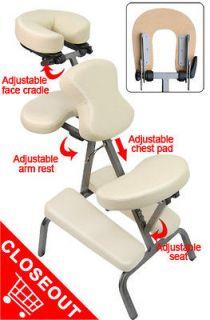 PU 3 Foam Portable Massage Chair Reiki Salon Tattoo Body Piercing