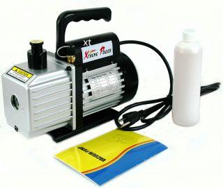 Stage 5 CFM 1/2HP Rotary Vane Deep HVAC Tool AC R410a R134 w oil