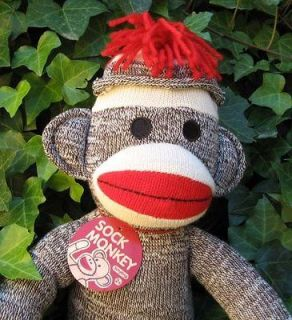 SOCK MONKEY 20 Schylling Retro Stuffed Toy Plush Doll NEW