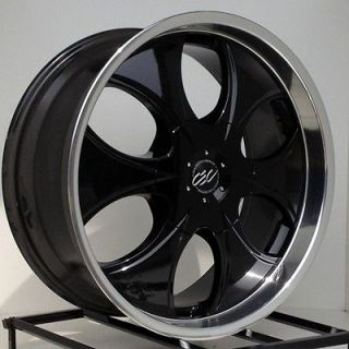 22 Inch Black Rims Wheels Chevy Truck Silverado Tahoe Avalanche GMC