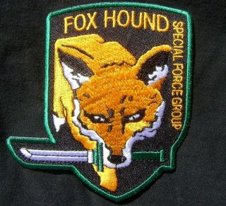 METAL GEAR SOLID FOX HOUND SPECIAL FORCES PS3 XBOX EMBROIDERED VELCRO