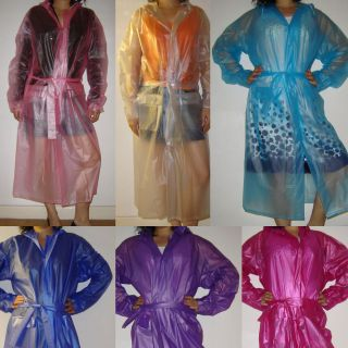 New Transparent Plastic PVC Vinyl Raincoat MAC
