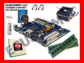 FX 3.8GHz Six Core x6 4GB DDR3 Motherboard CPU Processor RAM PC Combo