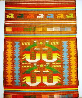 Vintage 100% Cotton Table Runner Hand Woven by Indians in Guatemala