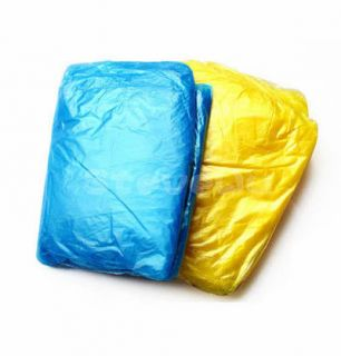 One Size for All Disposable Plastic Raincoat for Tourist Travel