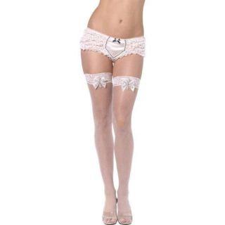 Adult Womens Snowflake Thigh High Stockings Smiffys Fancy Dress