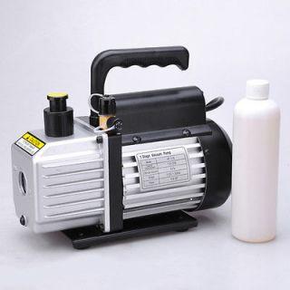 Rotary Vane Deep Vacuum Pump 1/4HP Refrigerant HVAC Air AC R134a R410a