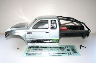 Trail Honcho Rock Crawler Silver Painted Body w/ Roll Cage & Decals