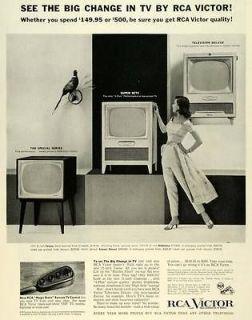 Ad RCA Victor Radio Corp America Remote TV Control Television Deluxe