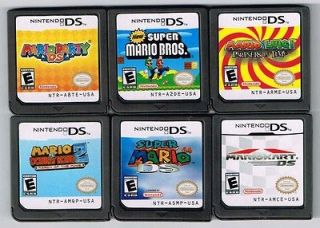 Lot of 6 Nintendo DS MARIO SERIESParty,Kart,NewSuperBros,Mario64