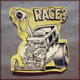 Rat Fink sticker decal vinyl bike car ed roth hot rod VW racing