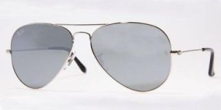 RAYBAN AVIATOR RB 3025 W3277 SILVER MIRROR 58mm SUNGLASSES