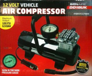 12V Heavy Duty Air Compressor DD18UK Tyre/Balls/Air Bed/Rafts Inflator