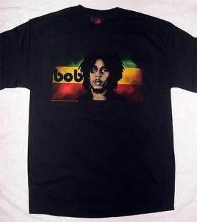 Bob Marley Reggae Flag black t shirt Medium and Large Zion Rootswear