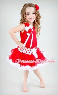 Red White Polka Dots FULL POSH Pettiskirt Skirt Party Dance Tutu Dress