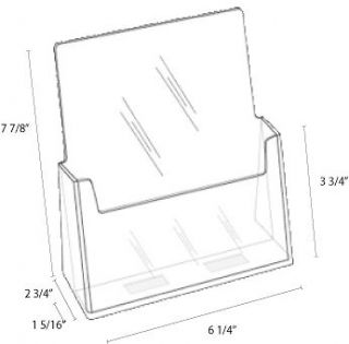Brochure Holder bi fold 6 inch Wide For Scentsy Catalog