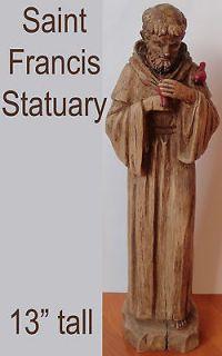 St Saint Francis Statuary Statue Outdoor Indoor Sculpture Garden Patio