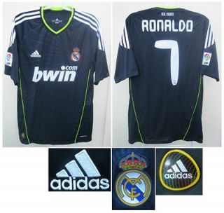 REAL MADRID ADIDAS 2010/11 RONALDO AWAY FOOTBALL SOCCER JERSEY SHIRT