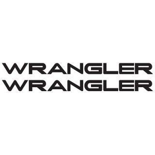 WR 01) TWO WRANGLER JEEP REPLACEMENT CAR WINDOW VINYL DECALS STICKERS