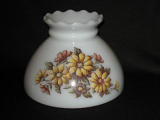 Hurricane Lamp Shade Globe only with Flower design