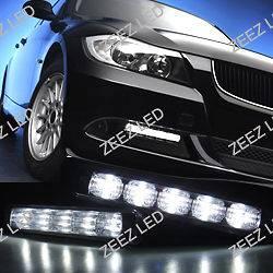 High Power Ultra Bright White LED Daytime Running Light Kit DRL Fog