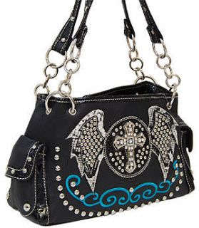 rhinestone cross purses in Handbags & Purses