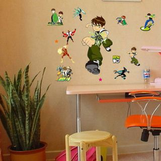 New BEN 10 Removable Wall Stickers Nursery Baby Decor Decal Kids