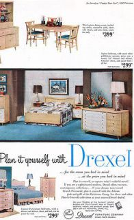 Drexel Furniture PARISIENNE French Provincial BEDROOM Dining Room 1955