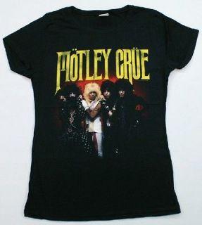 MOTLEY CRUE T Shirt Ladies Juniors Sizes Rock & Roll Music Black NWOT