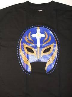 REY MYSTERIO Gold Mask WWE Vintage 619 T shirt