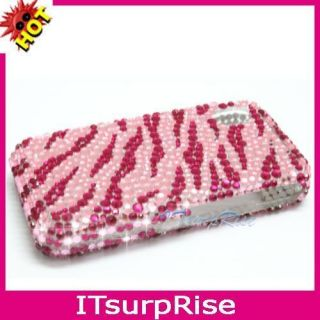 Pink Zebra bling Case Cover Fr SAMSUNG Tocco Lite S5230