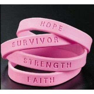silicone breast cancer bracelets in Bracelets