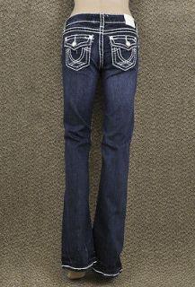 LA Idol Jeans Size 0 15 Classic White Stitching and Rhinestone Buttons
