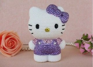 Bling Black Hello Kitty BOW for cell Phone iPhone5 5G Case Cover HOT