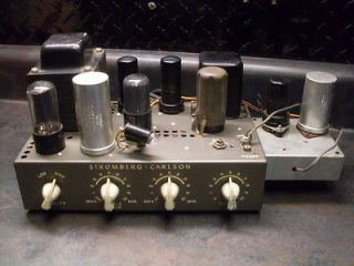 VINTAGE STROMBERG CARLSON TUBE AMPLIFIER MODEL 37 SCARCE W/ TUBE