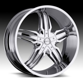 28 inch Milanni Phoenix Chrome Wheels Rims 5x4.75 5x120.6 +18
