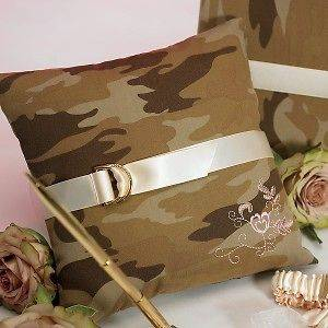 Discerning Camouflage Camo Wedding Ring Bearer Pillow